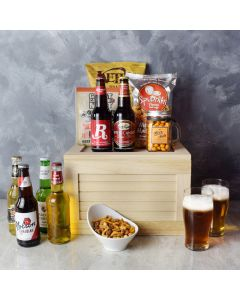 Gourmet Game Day Beer Gift Crate, beer gift baskets, gourmet gift baskets, gift baskets, gourmet gifts
