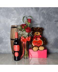 Carleton Valentine's Day Basket, wine gift baskets, gourmet gift baskets, Valentine's Day gifts, gift baskets, romance