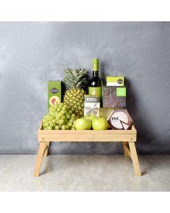 Green & Bountiful Wine Gift Set, wine gift baskets, gourmet gift baskets, gift baskets, gourmet gifts