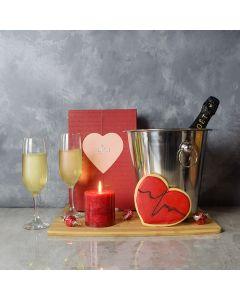 Valentine's Day Tea & Sweets Basket, gourmet gift baskets, champagne gift baskets, Valentine's Day gifts, gift baskets, romance