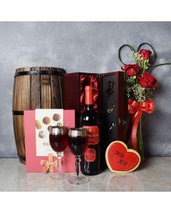 Leaside Valentine's Day Gift Basket, wine gift baskets, gourmet gift baskets, gift baskets, Valentine's Day gift baskets