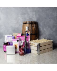 Perfectly Pink Sweets Gift Set with Liquor, liquor gift baskets, gourmet gifts, gifts