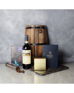 Chocolate Overload Gift Set with Wine, wine gift baskets, gourmet gifts, gifts