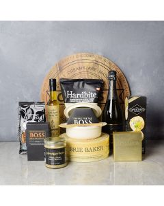 Brie Baker & Champagne Set, champagne gift baskets, gourmet gift baskets, gift baskets