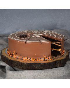 Large Halloween Spiderweb Cake