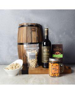 Nutty Surprise Wine Gift Basket, wine gift baskets, gourmet gift baskets, gift baskets, gourmet gifts