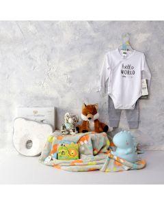 HELLO WORLD NAPTIME BABY SET, baby boy gift hamper, newborns, new parents