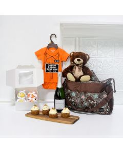 LITTLE DELIGHTS GIFT SET, baby gift basket, champagne gift baskets, new parent gifts