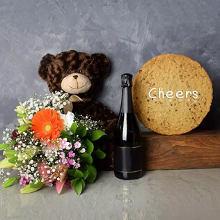 Cheers Cookie & Champagne Gift Set Vermont