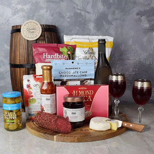 Wish You Success Wine & Goodies Gift Basket Vermont