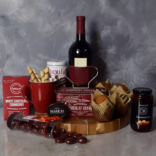 Muffin,Chocolate & Wine Delight Gift Set Vermont