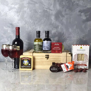 Deluxe Wine & Cheese Snack Crate Baltimore