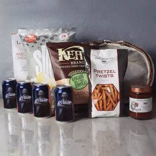 Kosher Beer& Snacks Basket Vermont