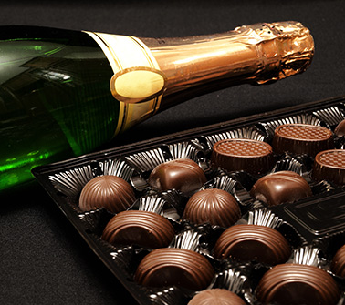Champagne and Chocolate Gift Baskets Delivered to Vermont